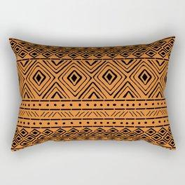African Mud Cloth // Orange Rectangular Pillow