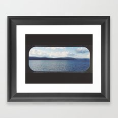 Ferry Window Framed Art Print