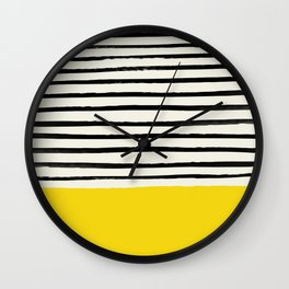 Sunshine x Stripes Wall Clock