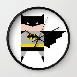 simpleheroes BAT-MAN fan art Wall Clock