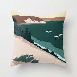 Minimalist Sleeping Bear Throw Pillow