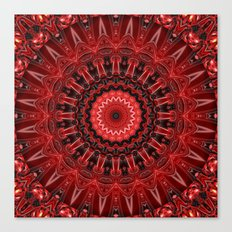 Mandala deep red Canvas Print