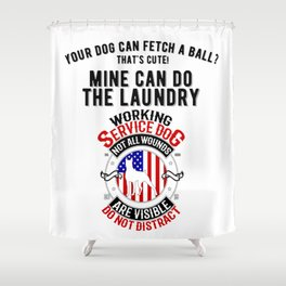United States Service Dog For The Disabled And The Blind Shower Curtain