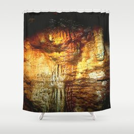Reflections inside a Dolomite Cave Shower Curtain