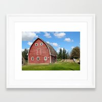 farm Framed Art Prints featuring farm by Cpayne