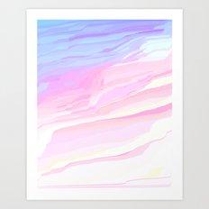 Summer seaside beach Art Print