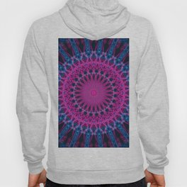 Detailed pink and light blue mandala Hoody