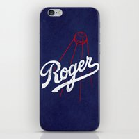 dodgers iPhone & iPod Skins featuring Roger That! by Robert Farkas