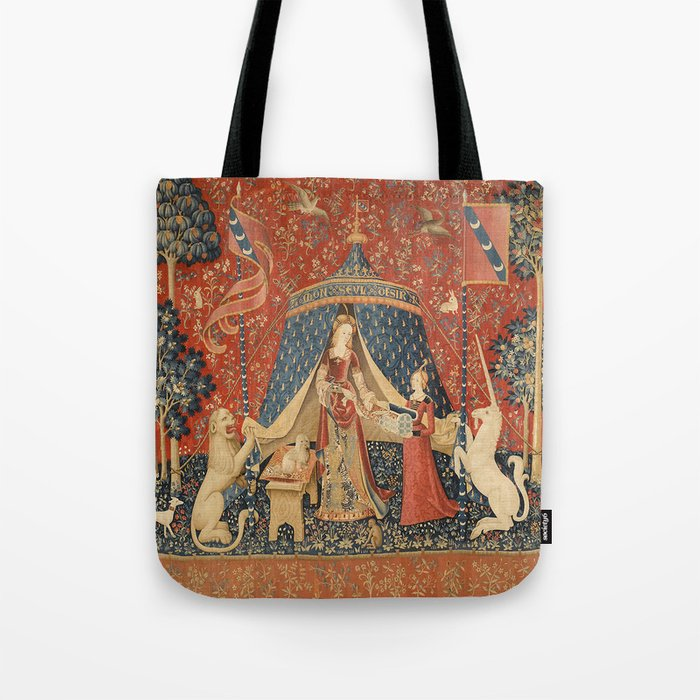 The Lady And The Unicorn Tote Bag