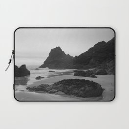 Mist Rolling in at Kynance Cove Laptop Sleeve