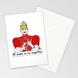 El diablo es un magnífico Stationery Cards