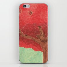 red tree iPhone & iPod Skin
