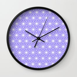 Cold Lilac Geometric Flowers and Florals Isosceles Triangle Wall Clock
