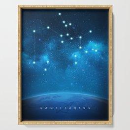 Sagittarius: Astrological Art Serving Tray