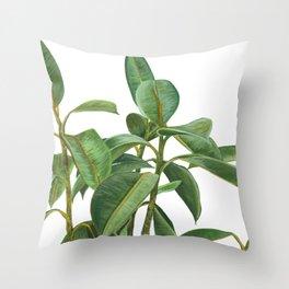 Rubber Tree Throw Pillow