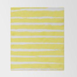 Irregular Stripes Yellow Throw Blanket