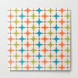 Mid Century Modern Star Pattern 821 Metal Print