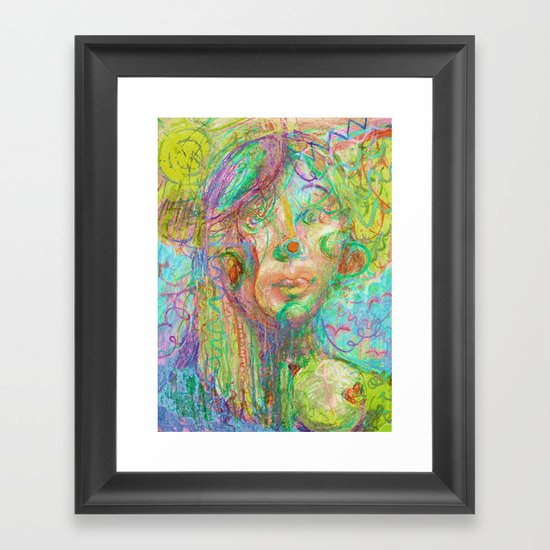 Psychedelic Girl Framed Art Print