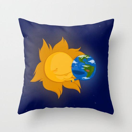 Global Warming #1 Throw Pillow