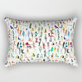 100 tiny ladies Rectangular Pillow