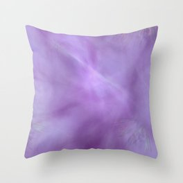 Purple Wisp Throw Pillow
