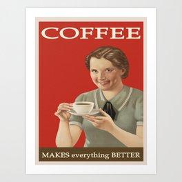 Vintage Coffee Advertisement  Art Print