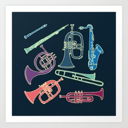 Wind instruments Art Print