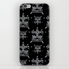 Baron Samedi Voodoo Veve Symbols in Black iPhone Skin
