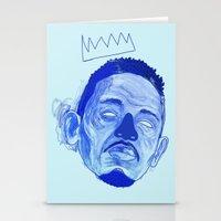 kendrick lamar Stationery Cards featuring Kendrick Lamar by HUSKMELK