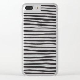 brushstroke stripes Clear iPhone Case