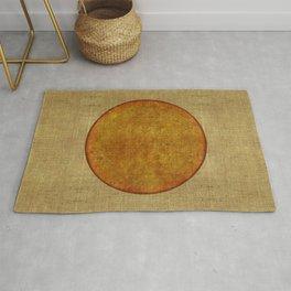 """Golden Circle Japanese Inspiration"" Rug"