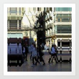 Saturday 9 March 2013: crass monsoon / benchmark splurge Art Print