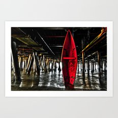 Rescue Canoe Art Print