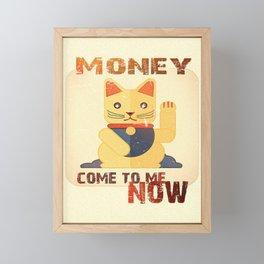 Maneki Neko - Money come to me now Framed Mini Art Print