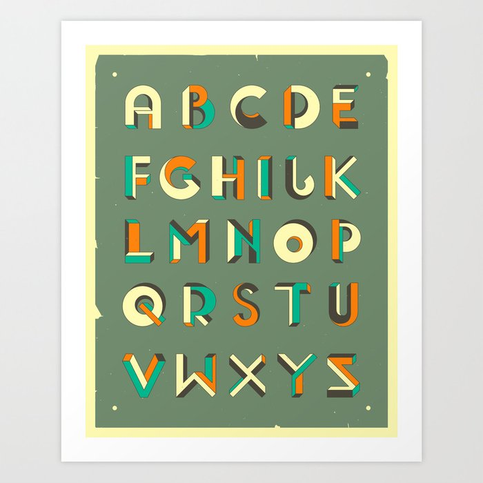 IMPOSSIBLE ALPHABET Art Print