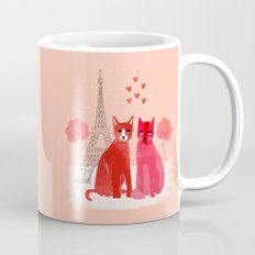 You're Purrfect - Two Cats in Paris Valentines Design featuring pink cats Mug