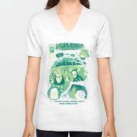 comics V-neck T-shirts featuring Adventure Comics by jublin