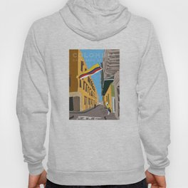 Cartagena de Indias, Colombia Travel Poster Hoody