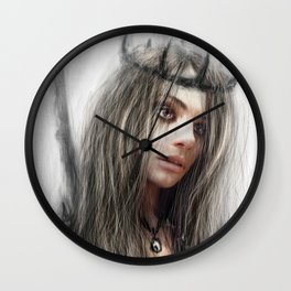 Dark Crown Wall Clock