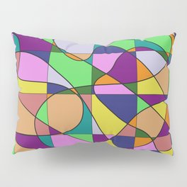 Pastel Pieces Pillow Sham