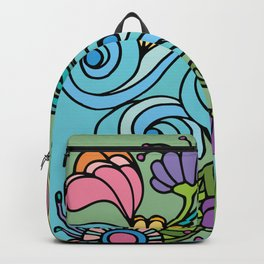Flower Power & Spiral Waves Backpack