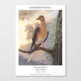 Passenger Pigeon - Martha Finds Her Flock  Canvas Print