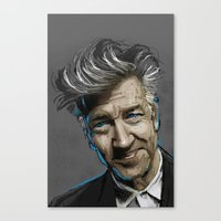 david lynch Canvas Prints featuring DAVID LYNCH by AMBIDEXTROUS™