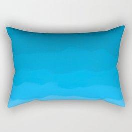 Happy Blue Ocean Waves Ombre Rectangular Pillow