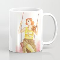 fashion illustration Mugs featuring Fashion illustration by Clara Serenellini