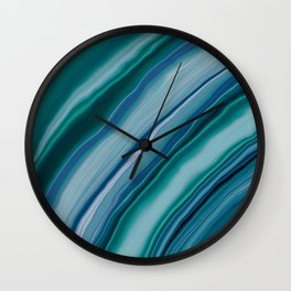 Liquid Teal Blue Green Agate Dream #1 #decor #art #society6 Wall Clock