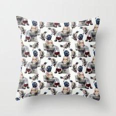 Bobaette Throw Pillow
