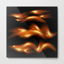 Tongues of flame background Metal Print