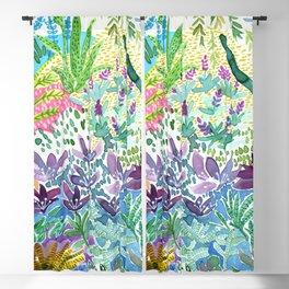 Tropical Garden Watercolor Blackout Curtain
