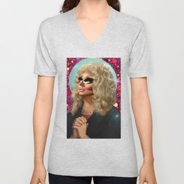 Drag Queen Saint Trixie for a Better Rupaul Future Yass Unisex V-Neck